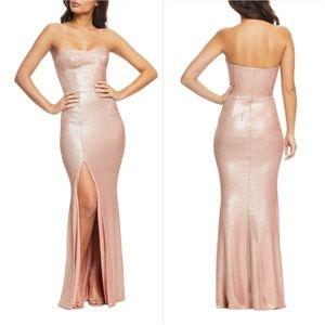 Dress the Population Ellen Strapless Sequin Dress